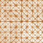 Diamond Stitch Ginger Patterned Tiles