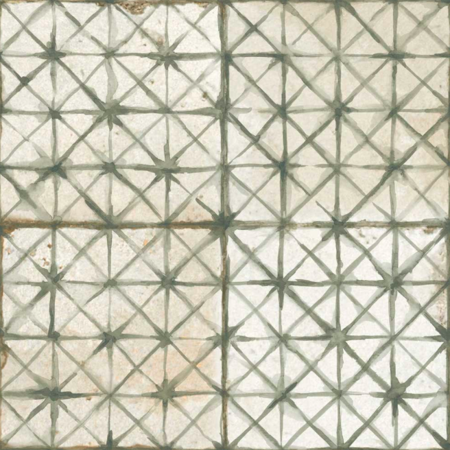 Diamond Stitch Pale Green Patterned Tiles