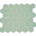 Duck Egg Gloss Hexagon Mosaic Tiles