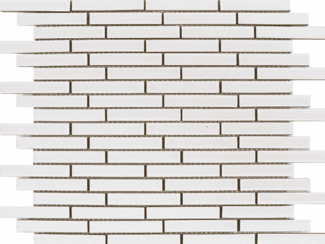 Elite Pencil Matt White Mosaic Tiles