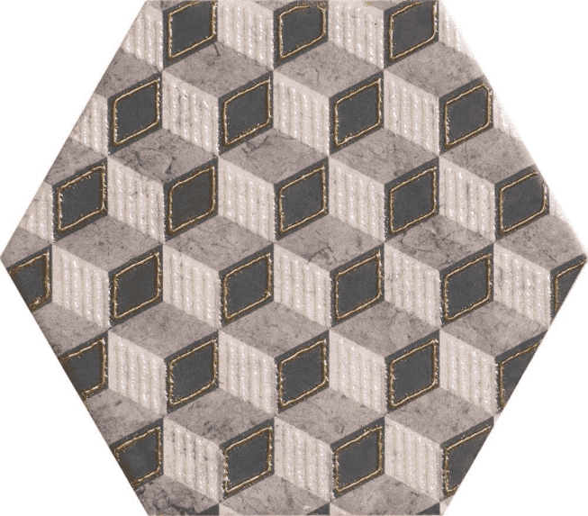 Embossed Hexagon Tiles