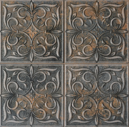 Embossed Iron Inspired Wall Tiles