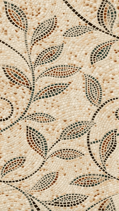 Embossed Mosaic Vine Tile