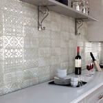 Embossed Platinum Gold Metro Tiles