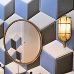 Encaustic 3D Blue Hexagon Tiles