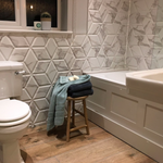 Encaustic 3D Marble Effect Hexagon Tiles