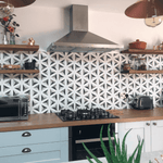 Encaustic Grey Star Hexagon Tiles
