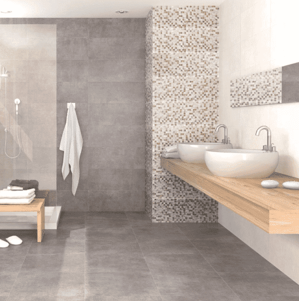 Euphoria Grey Concrete Effect Mosaic Plank Tiles