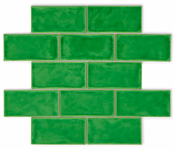Fired Glass Green 15 x 7.5 Metro Tiles