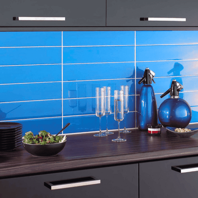 Fruity Blue 30 x 10 Metro Wall Tiles
