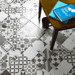 Geomax Black And White Patterned Tile