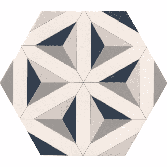 Geometric Mixed Hexagon Tiles