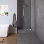 Gilleti 60 x 30 Riven Polished Grey Tiles