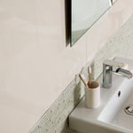 Gilleti Riven Polished White Tiles