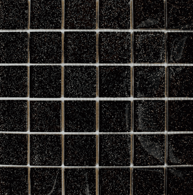 Glitter Sparkle Black 8mm Mosaic Tiles