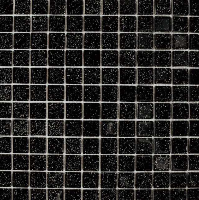 Glitter Sparkle Black Mini Mosaic Tiles