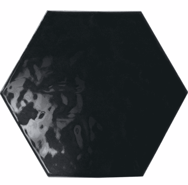 Gloss Black Hexagon Tiles