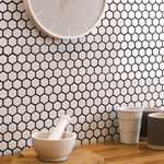 Gloss White Hexagon Mosaic Tiles