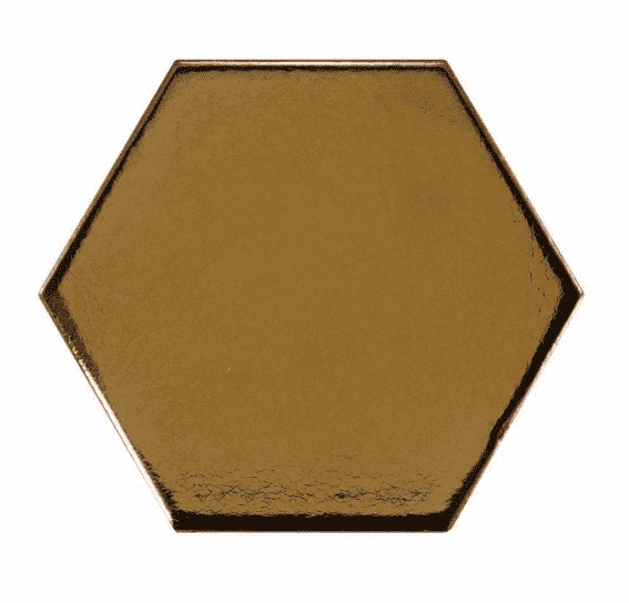 Gold Hexagon Wall Tiles