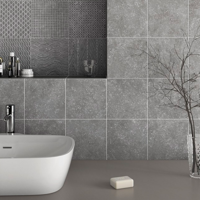 Goulsh Mid-Grey Speckle Small Tiles