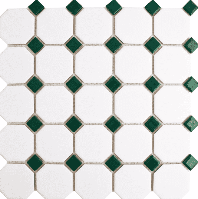 Green Octagon Mosaic Tiles