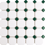 green-octagon-mosaic-tiles