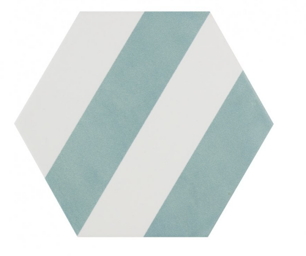 green-stripe-hexagon-tiles