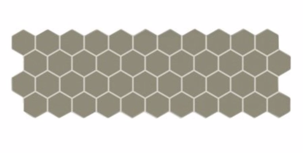 Grey Hex Mosaic Panel Tile