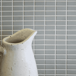 Grey Horizontal Brick Style Matt Mosaic Tiles