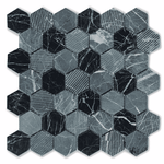 Grey Marble Hexagon Mosaic Tiles
