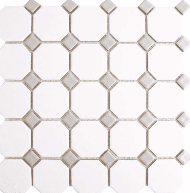 Grey Octagon Mosaic Tiles