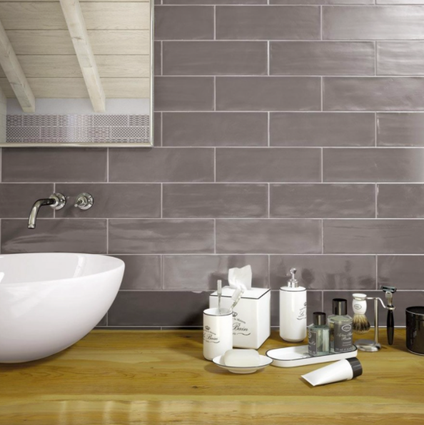 Grey Soft Matt Metro Tiles
