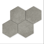 Grey Stone Effect Hexagon Tiles