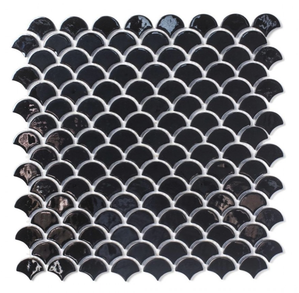 Gum Drop Black Mosaic Tiles