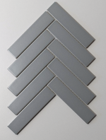 Herringbone Matt Grey Mosaic Tiles