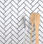 Herringbone White Matt Mosaic Tiles