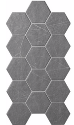 Hexagon Dark Marble Panel Tiles