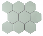 Hexagon Matt Light Green Mosaic Tiles