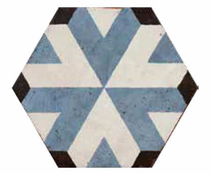 Hexagon Patterned Encaustic Effect Tiles
