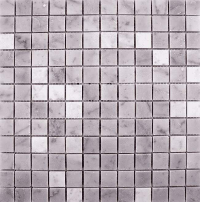 Hoilan Polished White Square Marble Mosaic Tiles