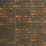 Ironised Copper Pencil Mosaic Tiles