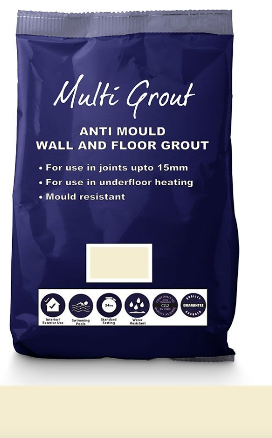 Ivory Floor And Wall Grout 10KG