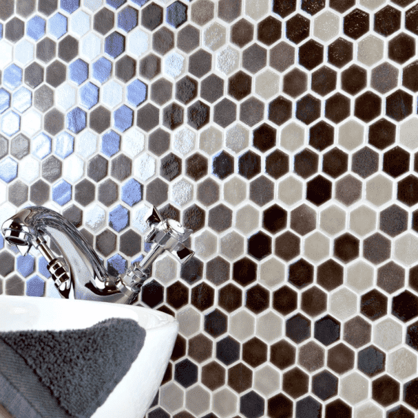 leather-textured-glass-hexagon-mosaic-tiles