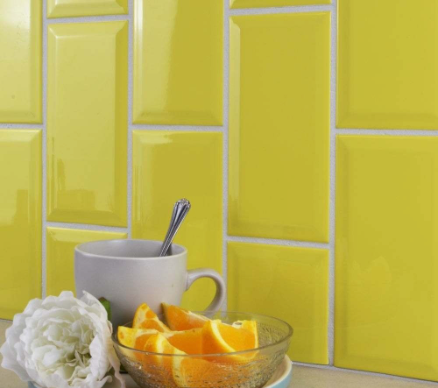 Lemon Metro Wall Tiles
