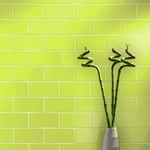 Lime Smooth 20 x 10 Metro Wall Tiles