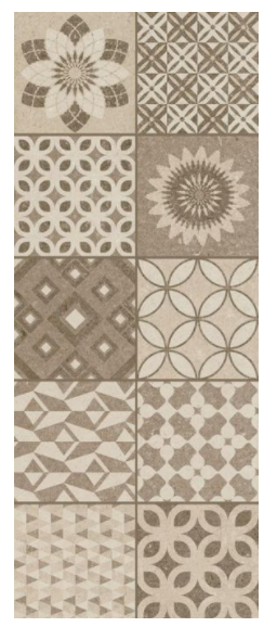 Londra Brown Pattern Concrete Style Tiles