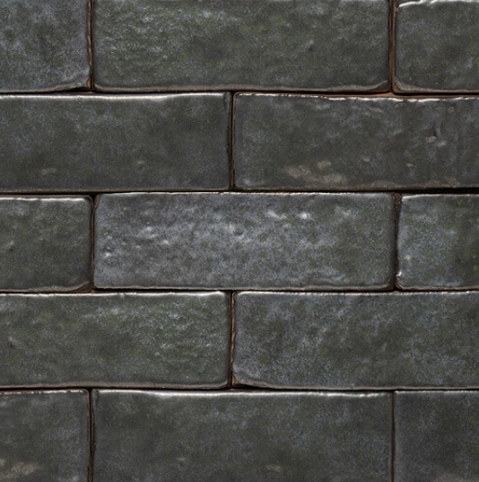 Lush Graphite Glazed Brick Slips