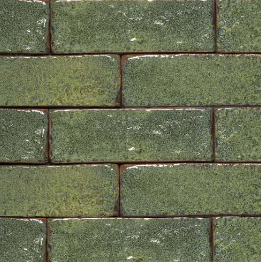 Lush Malachite Glazed Brick Slips