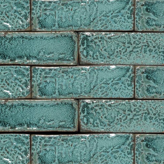Lush Topaz Glazed Brick Slips