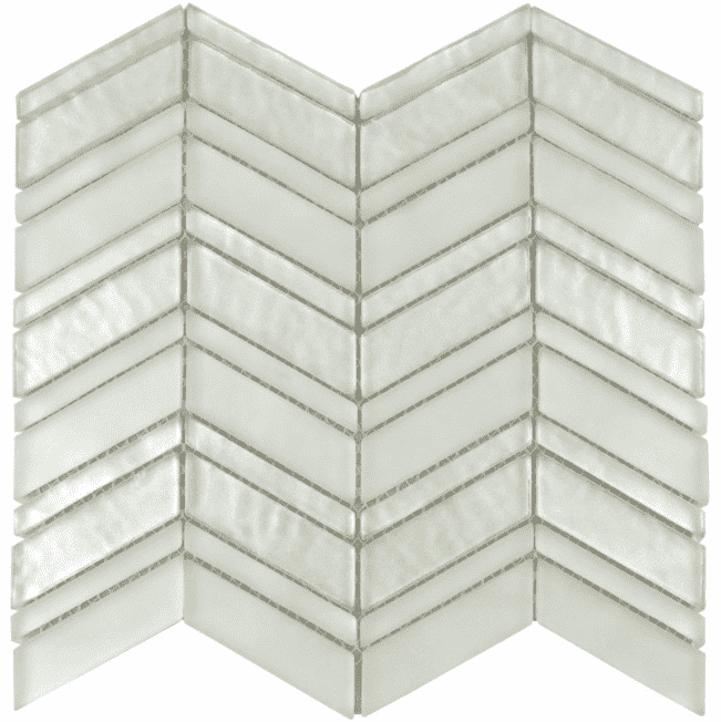 Majestic Premium Chevron White Mosaic Tiles